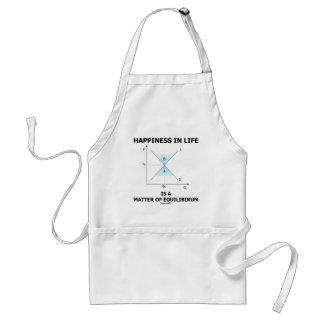 Happiness In Life Is A Matter Of Equilibrium Adult Apron