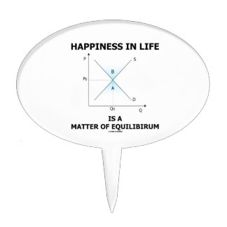 Happiness In Life Is A Matter Of Equilibrium Cake Topper
