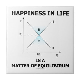 Happiness In Life Is A Matter Of Equilibrium Ceramic Tile