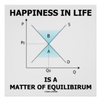 Happiness In Life Is A Matter Of Equilibrium Poster