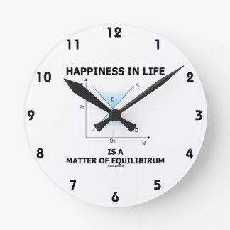 Happiness In Life Is A Matter Of Equilibrium Round Clock