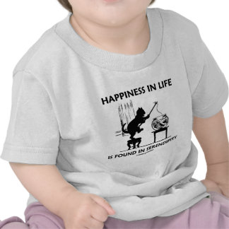 Happiness In Life Is Found In Serendipity (Cat) Tee Shirt