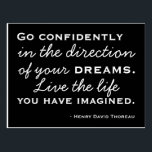 """Happiness Inspiration -  Motivational Postcard<br><div class=""""desc"""">Motivate and inspire. A postcard to encourage,  inspire,  and motivate featuring the words of Henry David Thoreau. Go confidently in the direction of your dreams. Live the life you have imagined.</div>"""