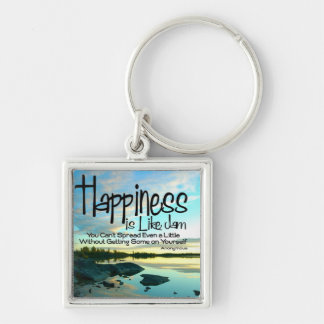 Happiness Inspirational Quote Keychain