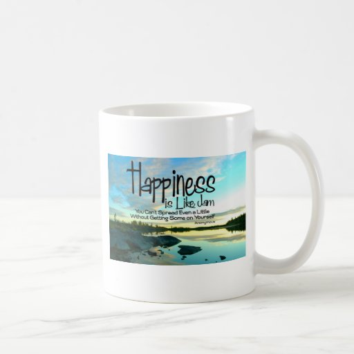 Happiness Inspirational Quote Classic White Coffee Mug