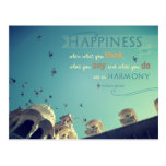 """""""Happiness"""" - inspirational quote postcard"""