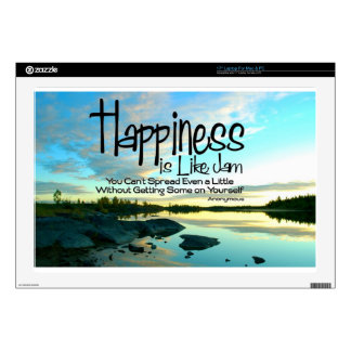 """Happiness Inspirational Quote Skins For 17"""" Laptops"""