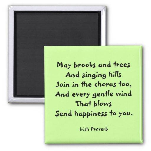 Happiness Irish Proverb Magnet