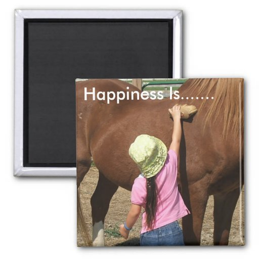 Happiness Is......... 2 Inch Square Magnet