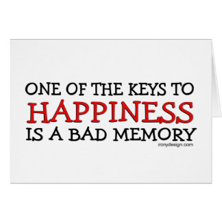 Happiness is a Bad Memory Card
