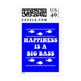 Happiness is a Big Bass Postage