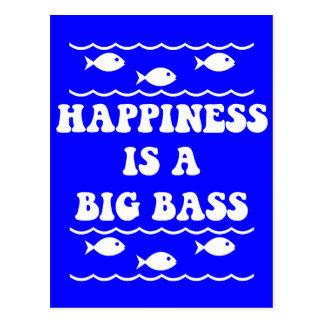 Happiness is a Big Bass Postcard