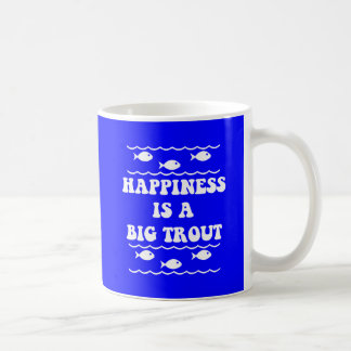 Happiness is a big trout coffee mugs