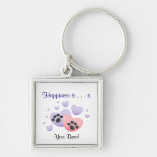 Happiness is a [Breed] Keychain