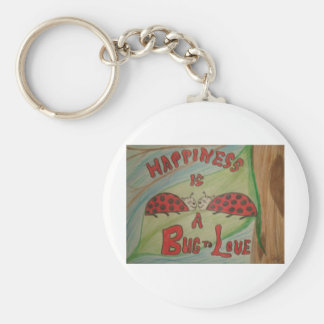 Happiness is a BUG TO LOVE Keychain