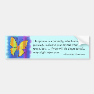 Happiness is a Butterfly Bumper Sticker