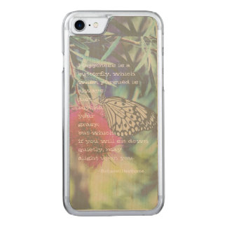 Happiness is a Butterfly - Inspiring Quote Carved iPhone 8/7 Case