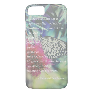 Happiness is a Butterfly - Inspiring Quote iPhone 7 Case