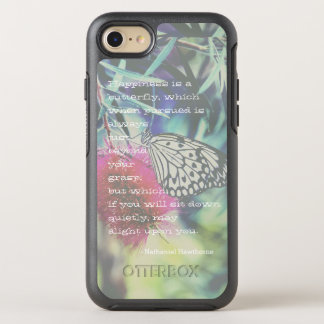 Happiness is a Butterfly - Inspiring Quote OtterBox Symmetry iPhone 8/7 Case