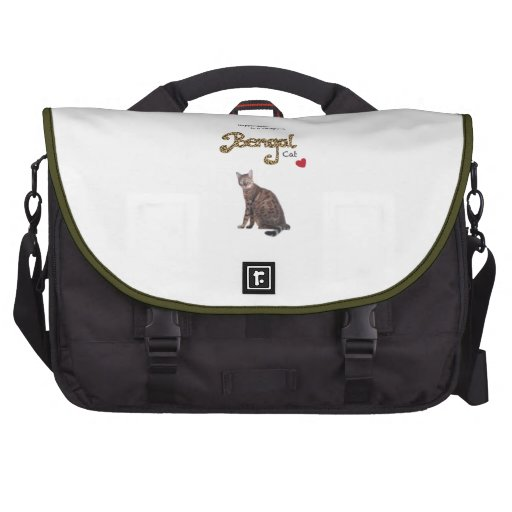Happiness is a chirping Bengal Cat Commuter Bags