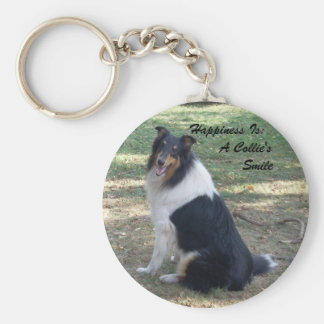 Happiness Is: A Collie's Smile Keychain