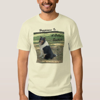 Happiness Is.. A Collie's Smile.. Tshirts
