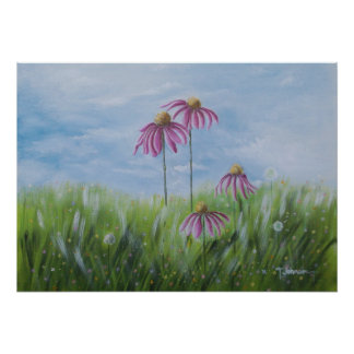 Happiness is a Cone Flower Poster