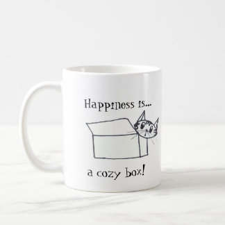 Happiness is a cozy box! coffee mug