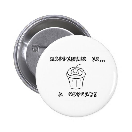 Happiness is a Cupcake Pins
