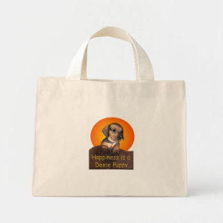 Happiness is A Dachshund Puppy Canvas Bag