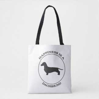 Happiness is a Dachshund Tote Bag