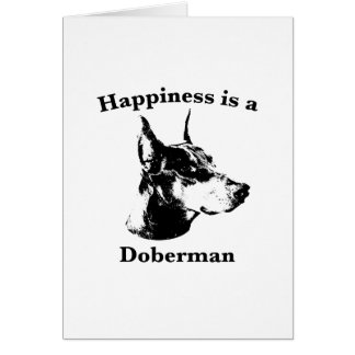 Happiness is a Doberman Card