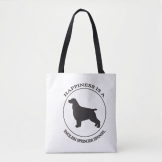 Happiness is a English Springer Spaniel Tote Bag