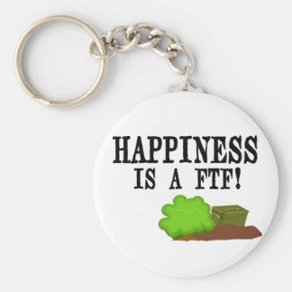 Happiness is a FTF! Basic Round Button Keychain