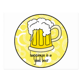 Happiness is a Good Beer Postcard