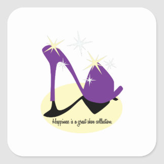 Happiness Is A Great Shoe Collection Square Sticker