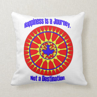 Happiness is a Journey Mandala Pillow