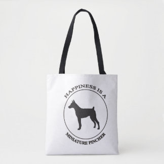 Happiness is a Minature Pincher Tote Bag