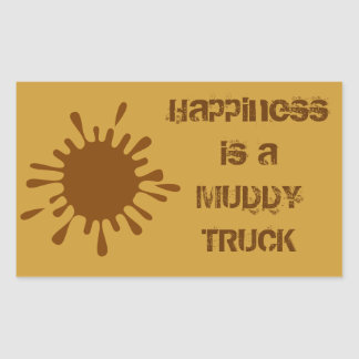 Happiness is a Muddy Truck Sticker