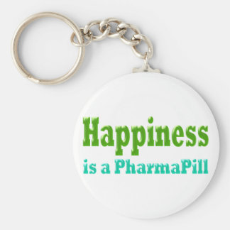 Happiness is A pharmaceutical pellet Keychain