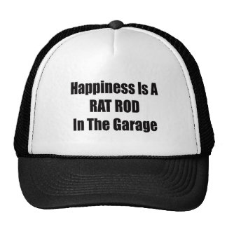 Happiness Is A Rat Rod In The Garage Trucker Hat