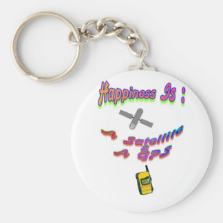 Happiness Is A Satellite & GPS Keychain