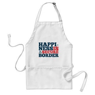 Happiness is a Secure Border Adult Apron