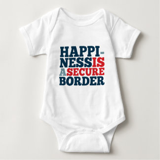 Happiness is a Secure Border Baby Bodysuit