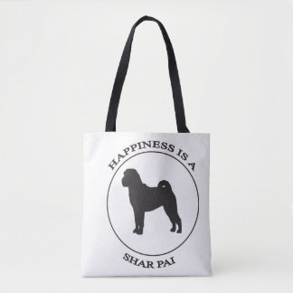 Happiness is a Shar-Pai Tote Bag