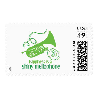 Happiness is a Shiny Mellophone Postage Stamps