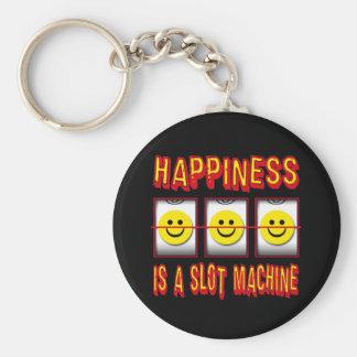 HAPPINESS IS A SLOT MACHINE KEYCHAIN