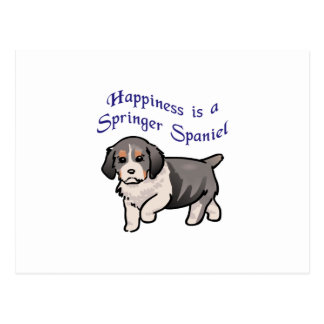 Happiness Is A Springer Postcard