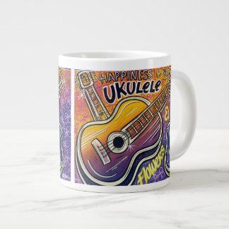 Happiness is a Ukulele Jumbo China Mug 20 Oz Large Ceramic Coffee Mug