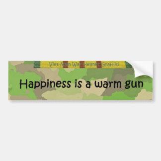 Happiness is a warm gun bumper sticker